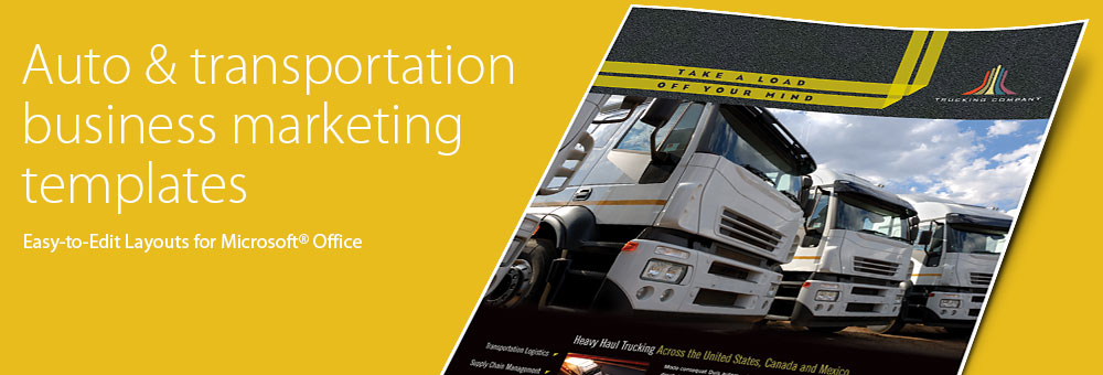 Automotive & Transportation Brochures, Flyers, Newsletters - Microsoft Word Templates & Publisher Templates