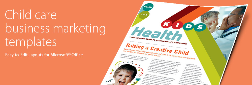 Child care brochures flyers word publisher templates for Child care brochure template free