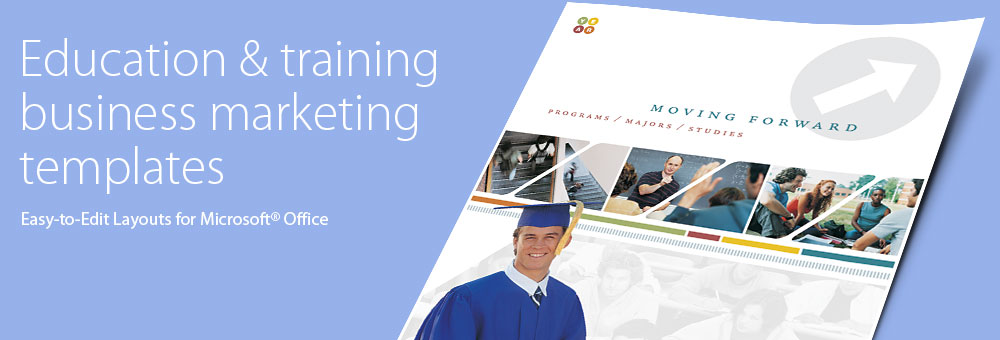 Education & Training Brochures, Flyers, Newsletters - Microsoft Word Templates & Publisher Templates