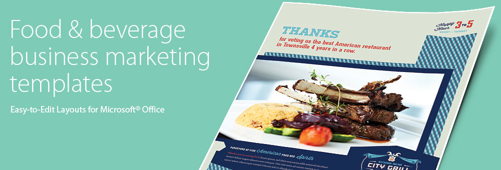 Food & Beverage Brochures, Flyers - Microsoft Word Templates & Publisher Templates