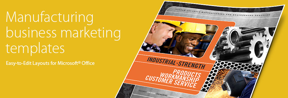 Manufacturing - Microsoft Word, Publisher, PowerPoint Templates by LayoutReady