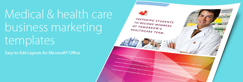 Medical & Health Care - Microsoft Word, Publisher, PowerPoint Templates by LayoutReady
