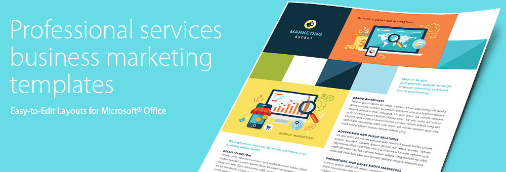 Professional Services Brochures, Flyers, Newsletters - Microsoft Word Templates & Publisher Templates
