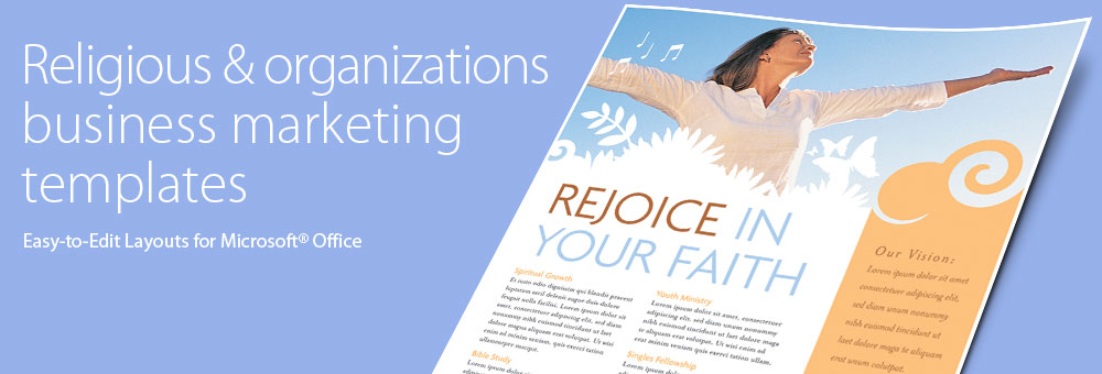 Religious & Organizations Brochures, Flyers, Newsletters - Microsoft Word Templates & Publisher Templates