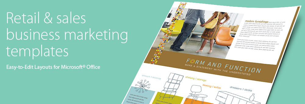 Retail & Sales Brochures, Flyers, Newsletters - Microsoft Word Templates & Publisher Templates