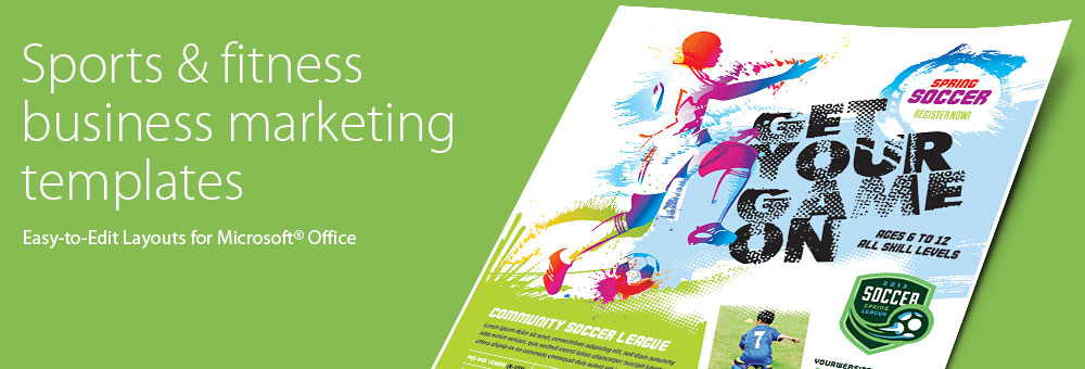 Sports & Fitness - Microsoft Word, Publisher, PowerPoint Templates by LayoutReady