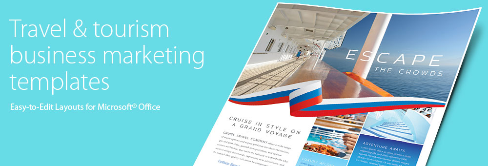 Travel & Tourism Brochures, Flyers, Newsletters - Microsoft Word Templates & Publisher Templates
