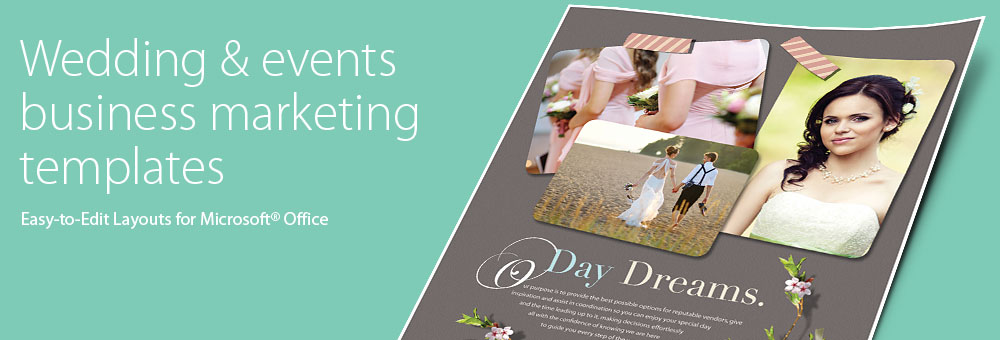 Wedding & Event Planning Brochures, Flyers, Newsletters - Microsoft Word Templates & Publisher Templates