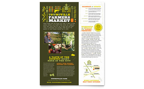 Farmers Market Flyer - Microsoft Office Template