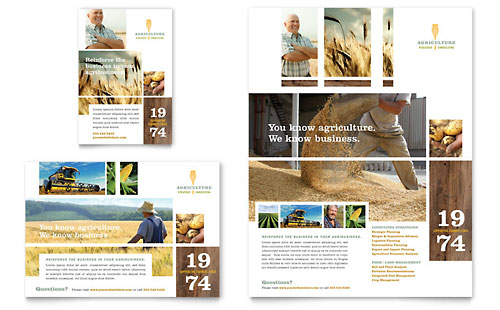 Farming & Agriculture Flyer & Ad Template Design