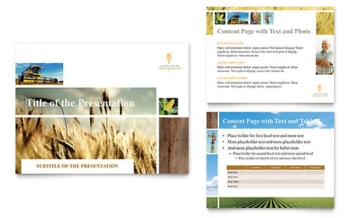 Farming & Agriculture PowerPoint Presentation Template Design