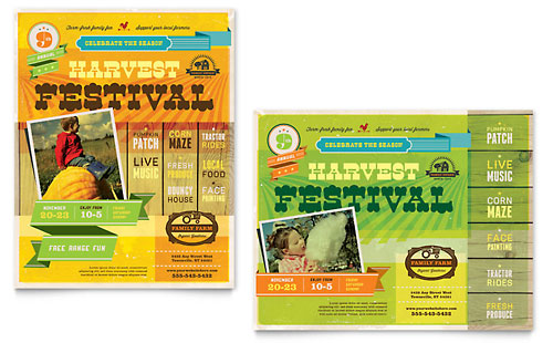 Harvest Festival Poster - Microsoft Office Template