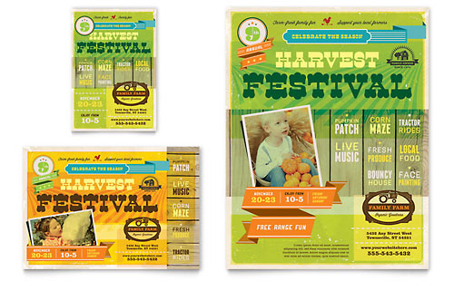 Harvest Festival Flyer & Ad - Microsoft Office Template