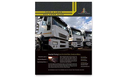 Trucking & Transport Flyer Template - Microsoft Office