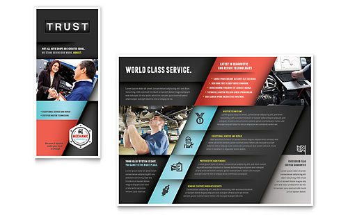 Auto Mechanic Brochure Template - Microsoft Office