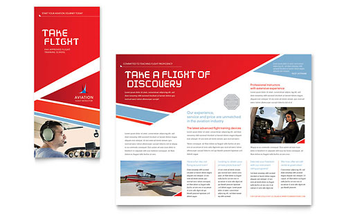 Aviation Flight Instructor Brochure Template - Microsoft Office