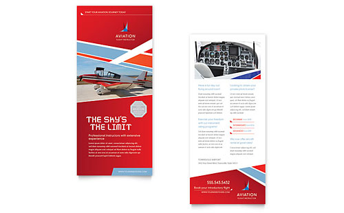 Aviation Flight Instructor Rack Card - Microsoft Office Template