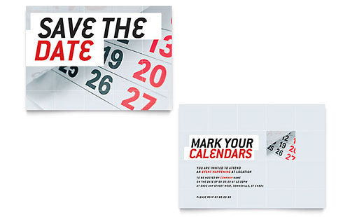 Save The Date - Sample Announcement Template - Word & Publisher