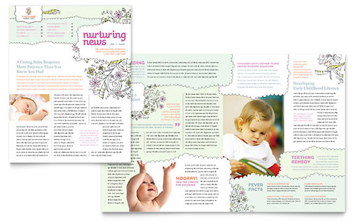 Babysitting & Daycare Newsletter Template Design