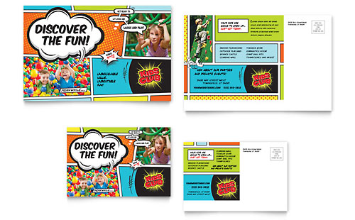 Kids Club Postcard - Microsoft Office Template