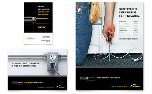 Electrician Flyer & Ad Template - Microsoft Office