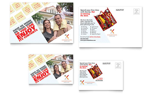 Handyman Services Postcard - Microsoft Office Template