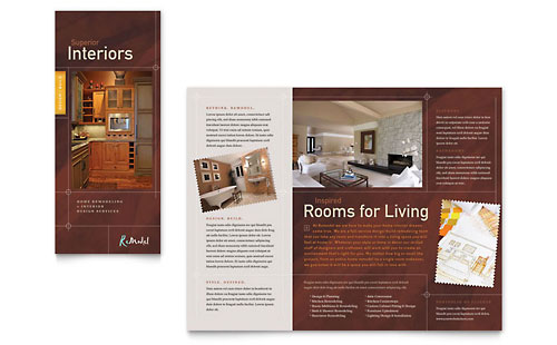 Home Remodeling Tri Fold Brochure - Microsoft Office Template