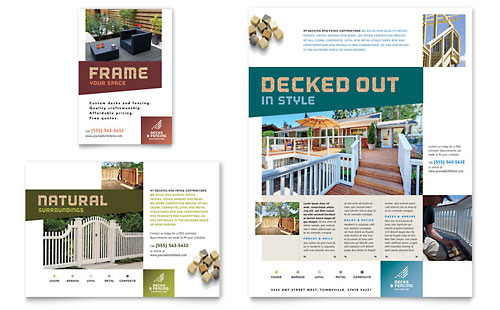 Decks & Fencing Flyer & Ad Template - Microsoft Office