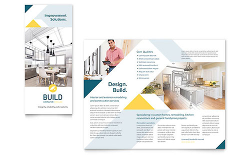 Contractor Brochure Template - Microsoft Office
