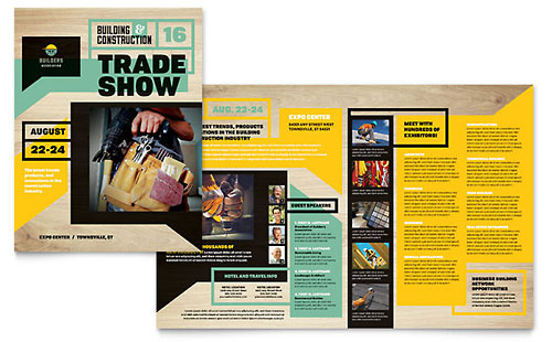 Builders Trade Show Brochure - Word Template & Publisher Template