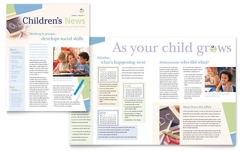 Child Care & Preschool Newsletter Template - Microsoft Office