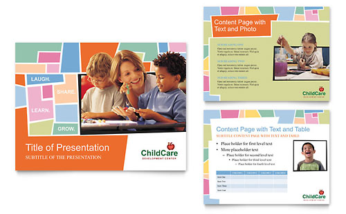 Preschool Kids & Day Care PowerPoint Presentation - Microsoft Office Template