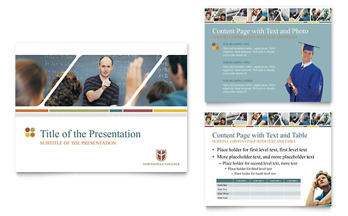 College & University PowerPoint Presentation - Microsoft Office Template