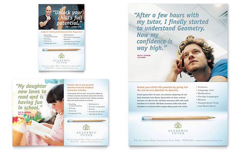 Academic Tutor & School Flyer & Ad Template Design
