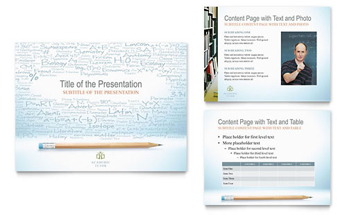 Academic Tutor & School PowerPoint Presentation - Microsoft Office Template