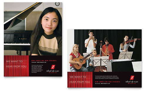 Music School Poster Template Design