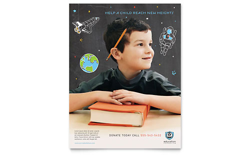 Education Foundation & School Flyer - Microsoft Office Template
