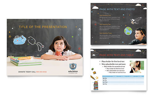 Education Foundation & School PowerPoint Presentation - Microsoft Office Template