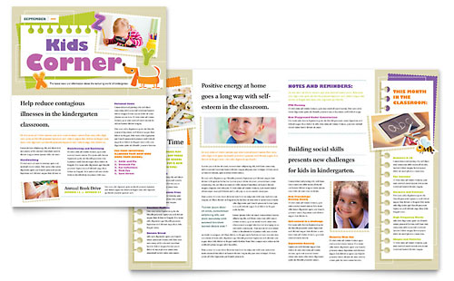 Kindergarten Newsletter Template - Microsoft Office