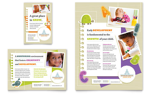 Kindergarten Flyer & Ad - Microsoft Office Template