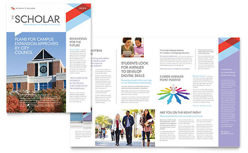 Community College Newsletter - Microsoft Office Template