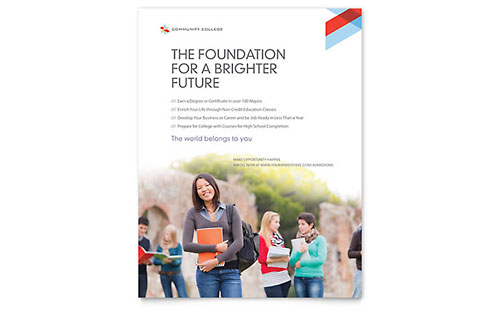 Community College Flyer - Microsoft Office Template
