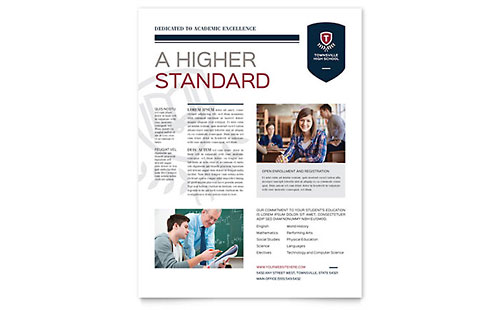 High School Flyer - Microsoft Office Template