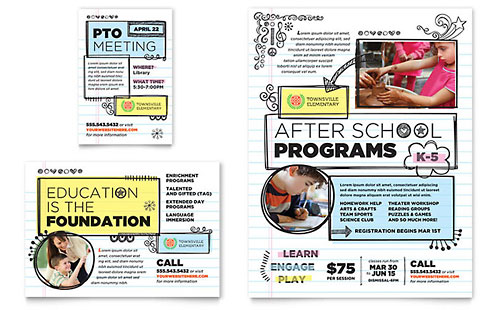 Elementary School Flyer & Ad Template - Microsoft Office