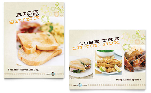 Cafe Deli Poster - Microsoft Office Template