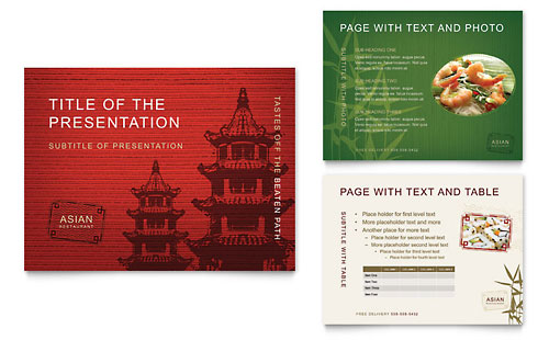 Asian Restaurant PowerPoint Presentation - Microsoft Office Template