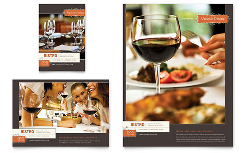 Bistro & Bar Flyer & Ad Template Design