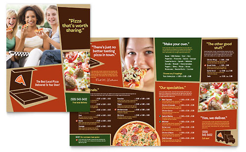 Pizza Pizzeria Restaurant Menu Template - Microsoft Office