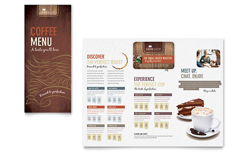 Coffee Shop Menu - Microsoft Office Template