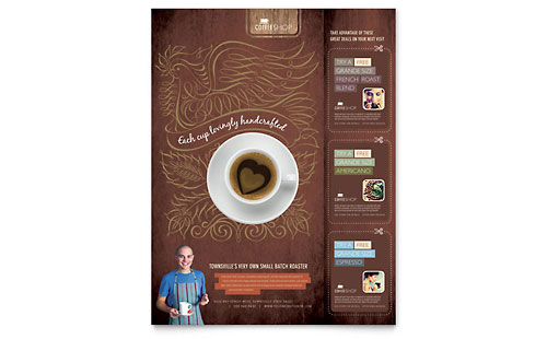 Coffee Shop Flyer - Microsoft Office Template